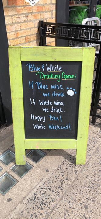 HAPPY BLUE & WHITE