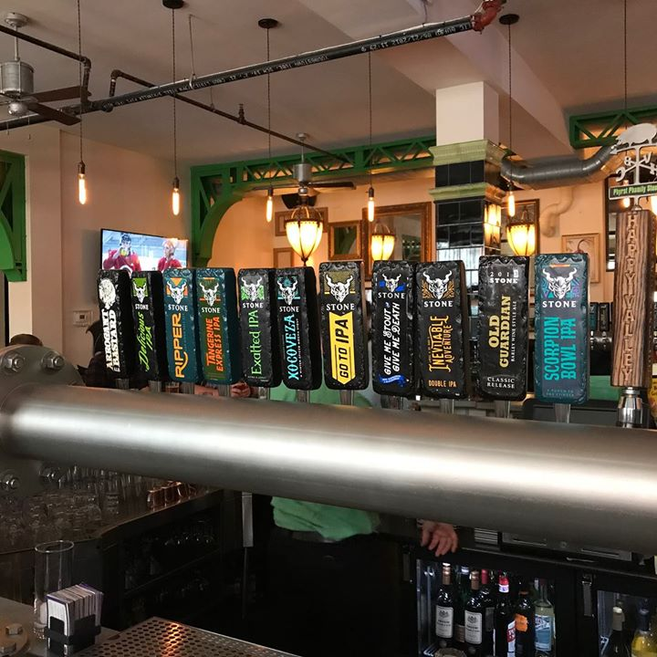 We had an amazing turnout for our @stonebrewing Tap Takeover!! Thank you to all the loyal Stone Brewing enthusiasts who donned their favorite Stone attire and showed up in force!! An amazing lineup, awesome merchandise, and the best patrons a bar could as