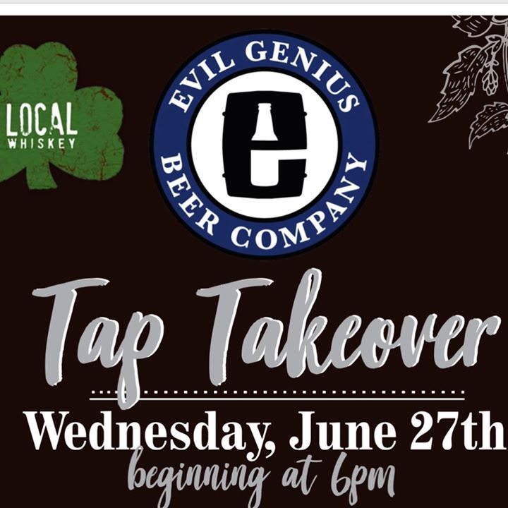 Come join us this Wednesday at 6pm as special guest Kevin Keller and @evilgeniusbeer take over our taps! ••• We will be featuring 11 of their most unique, and delicious brews, plus a speciality pin of Trust the Process over Coffee!! ••• So get your taste