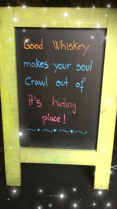 Get out of the rain and into some whiskey!