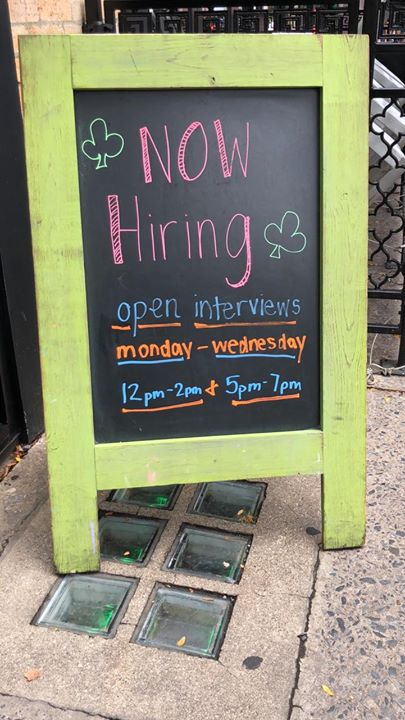Come out and interview for the best job ever!! Open interviews -Monday-Wednesday 12-2 & 5-7!!