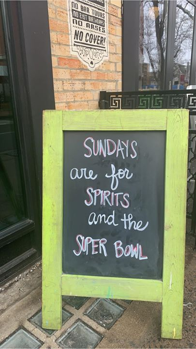 Come in and enjoy the super bowl with us!!