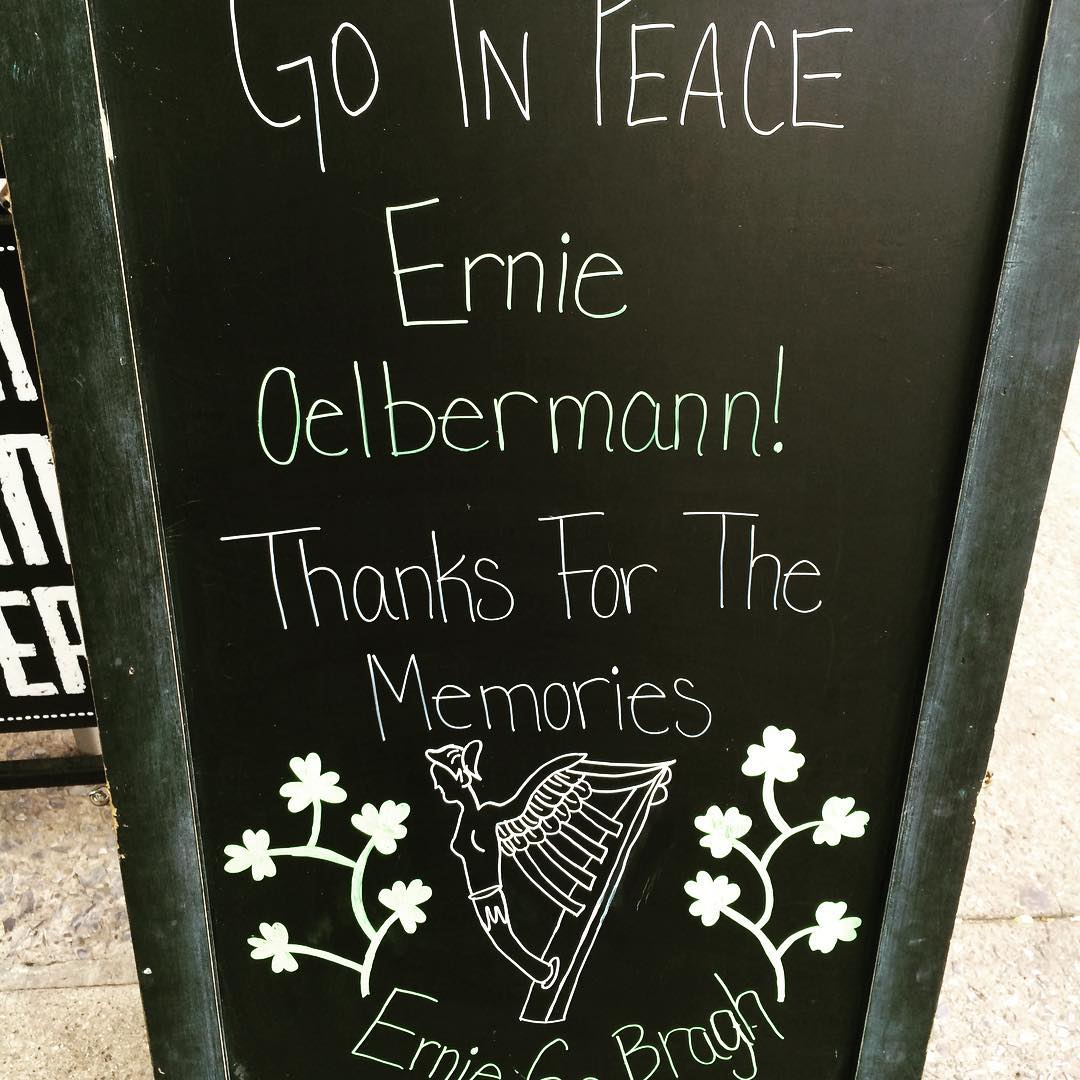The Phyrst has lost an amazing man in Ernie Oelbermann. Without him, Local Whiskey, the Phyrst, and much of the State College bar landscape would not be what it is today. We are forever grateful to him for setting the standard, and making the Phyrst the f