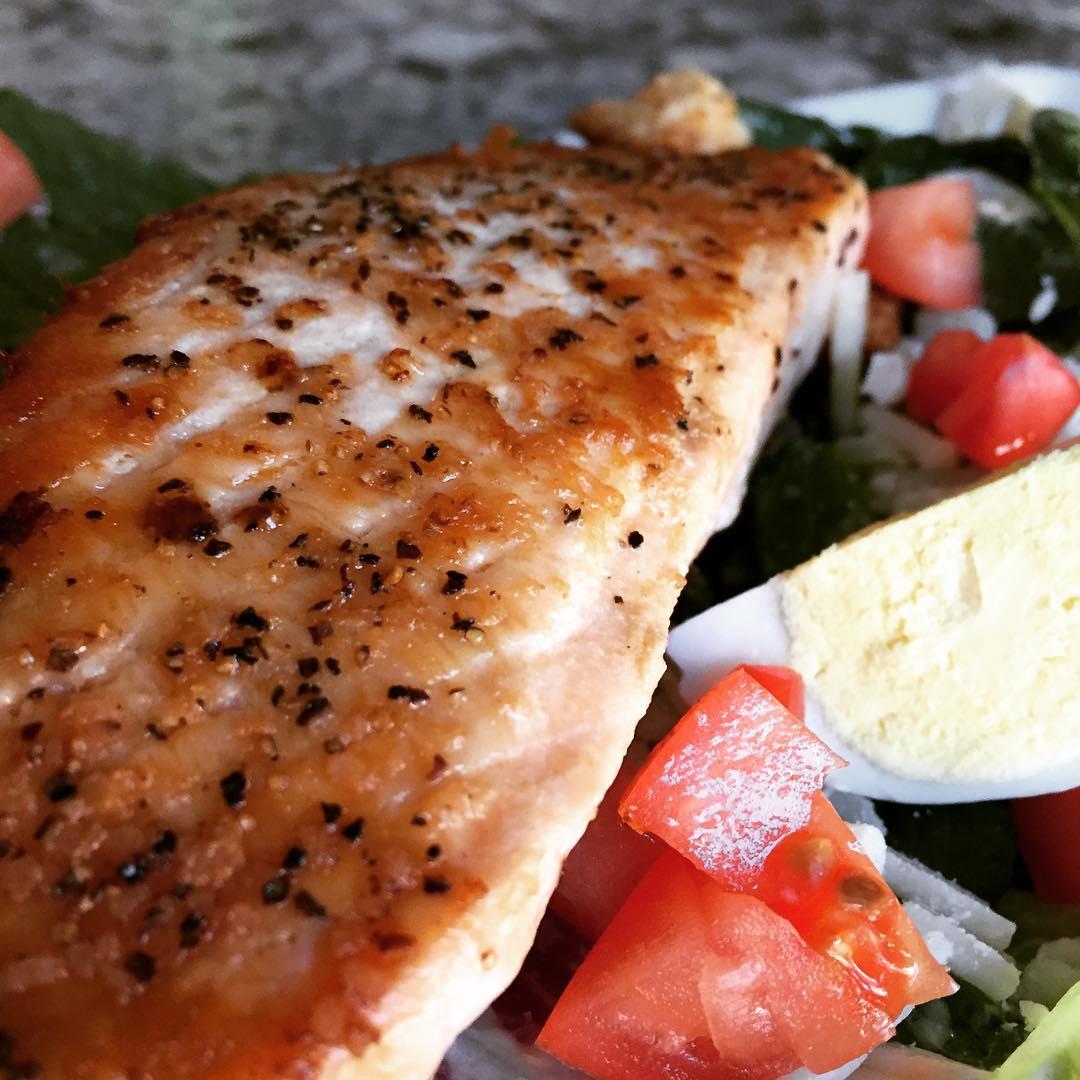 Seared Salmon Caesar Salad