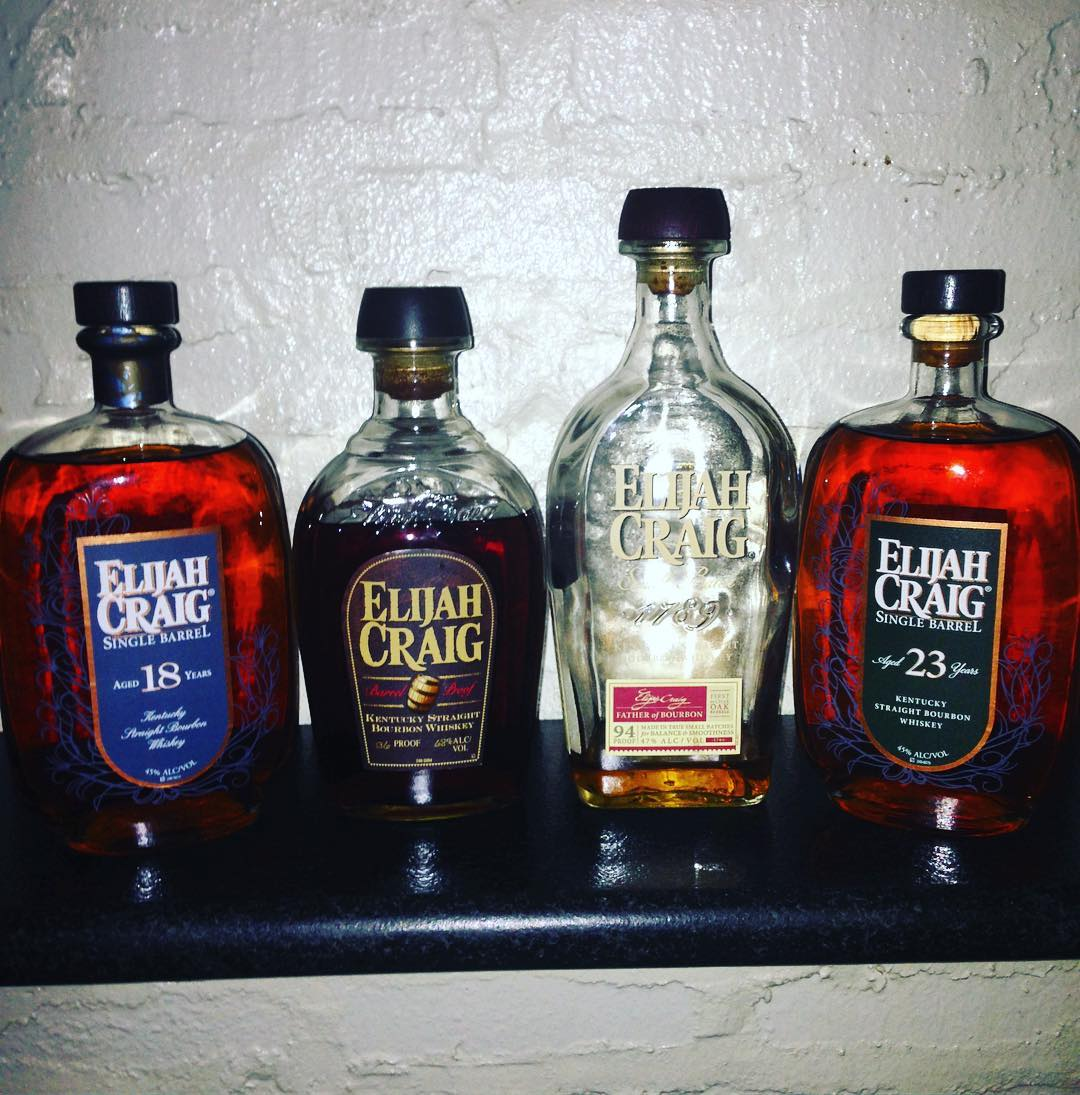 #elijahcraig Family get together @localwhiskeybar! #elijahcraig18 is old enough to vote, and #elijahcraig21 is old enough to order its own #elijahcraig! Don't forget your drunk uncle( #elijahcraigbarrelproof) and your disapproving father (#elijahcraigsma