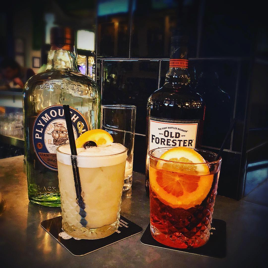 @localwhiskeybar Sweet and Sour Sunday Special from 10-12! $6 @plymouthginus Negronis, and @oldforester Whiskey Sours! : We also have half price amaro, as well as $2 off all wine! : No better way to celebrate your teams victory, or take the sting out of t