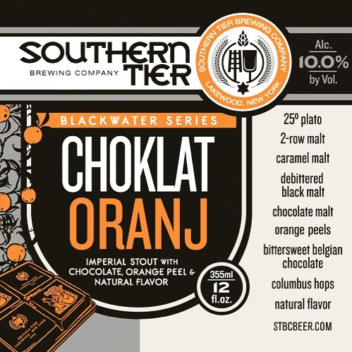 @untappd Monday's at Local Whiskey! We just tapped Southern Tier's Choklat Oranj, part of their Blackwater Series. ••• A very impressive Imperial Stout brewed with chocolate and orange, coming in at 10% ABV. The perfect cold weather stout to warm you back