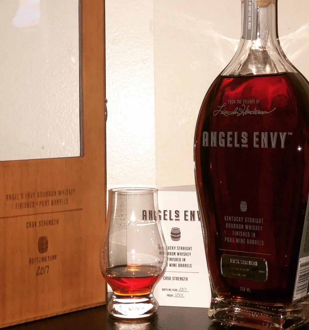 Stop into Local Whiskey to liven up those rainy day blues with our featured bourbon, Angels Envy Cask Strength 2017! *** An extremely robust bourbon, coming in at 124.5 Proof. Let it rest, and see how it develops in your glass. Bouquet of berries, oak and