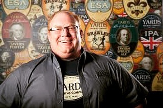 What an absolute privilege to announce that president, founder and brewmaster, @tomkehoeyards , will be in attendance for tomorrow's @yardsbrew tap takeover!! ••• Come in and sample the beer that helped put Philly on the craft beer map by the man himself!